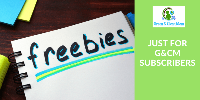 Green and Clean Mom Freebies