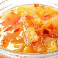 Sweet Potato Samosas with Mango Chutney