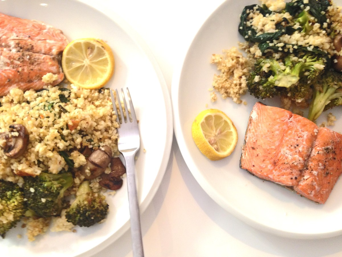 veggies bulgur and bio salmon 2
