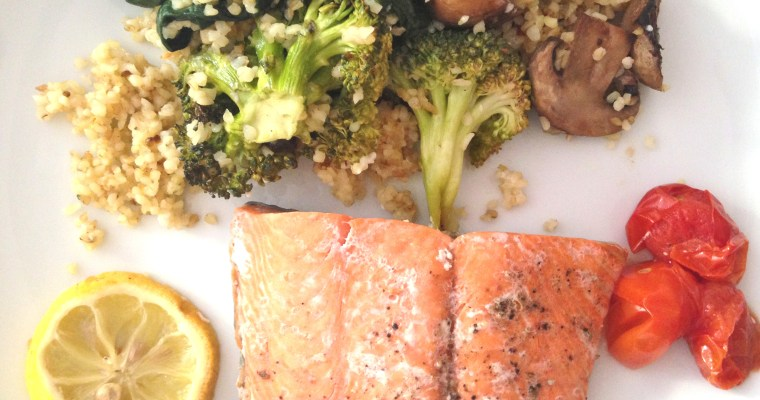 Bio salmon & veggies