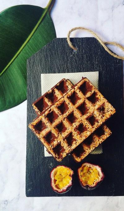 Barres de céréales chocolat et fruit de la passion