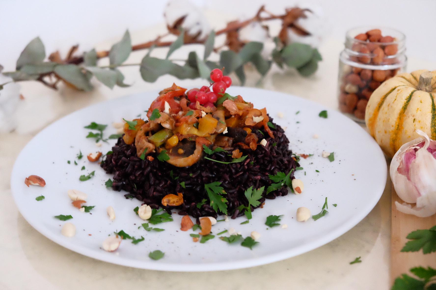 recette rapide asiatique riz noir gourmand. Black Bedroom Furniture Sets. Home Design Ideas