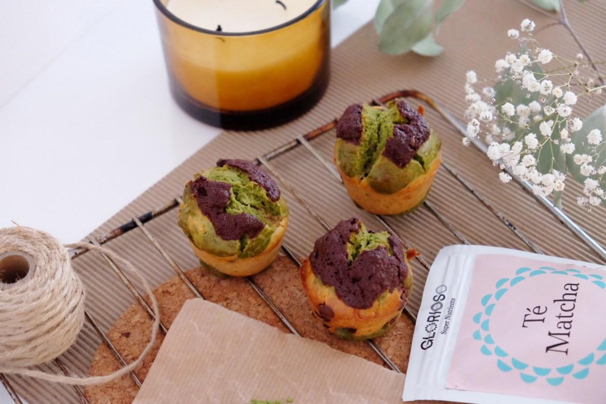 Muffins de té verde