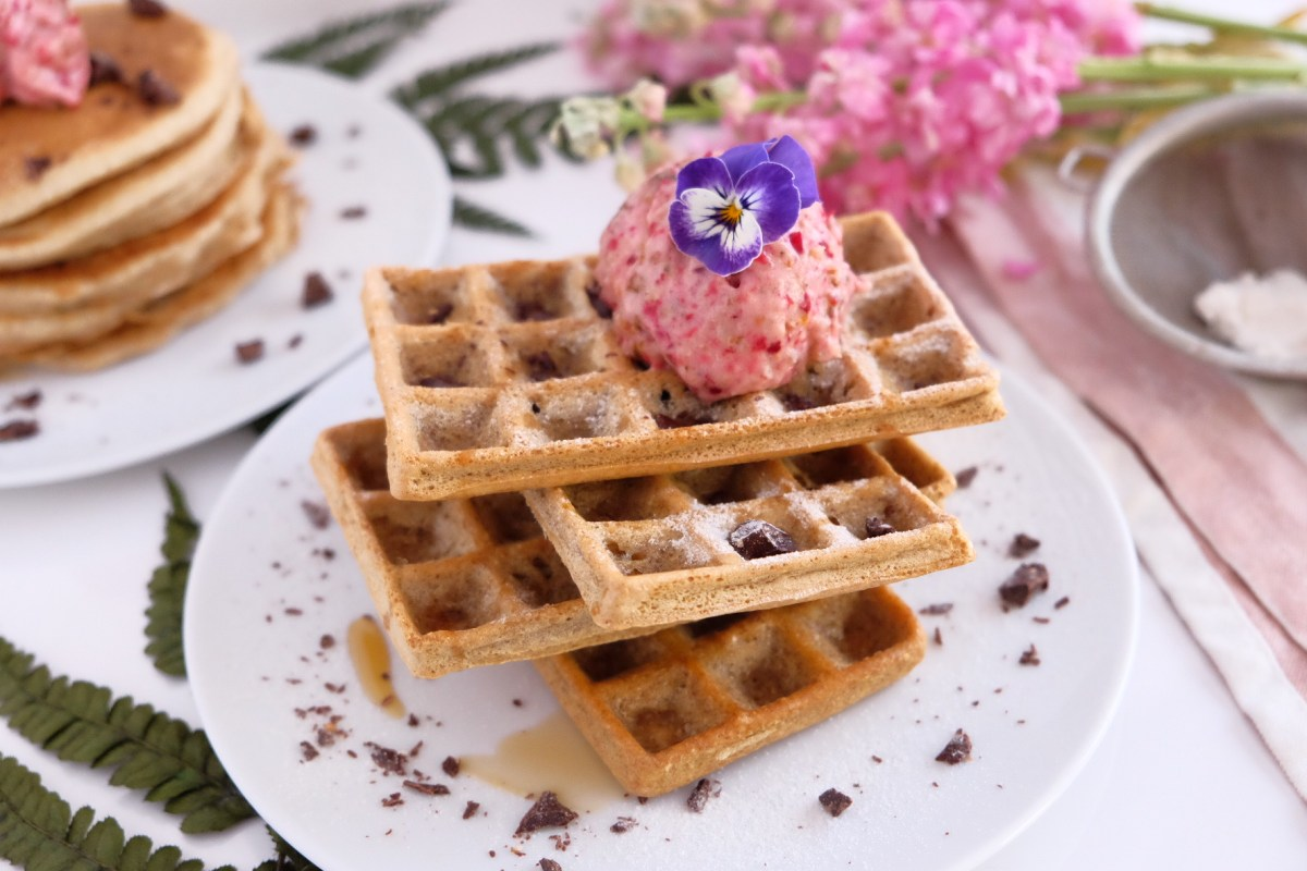 Oats pancake and waffles
