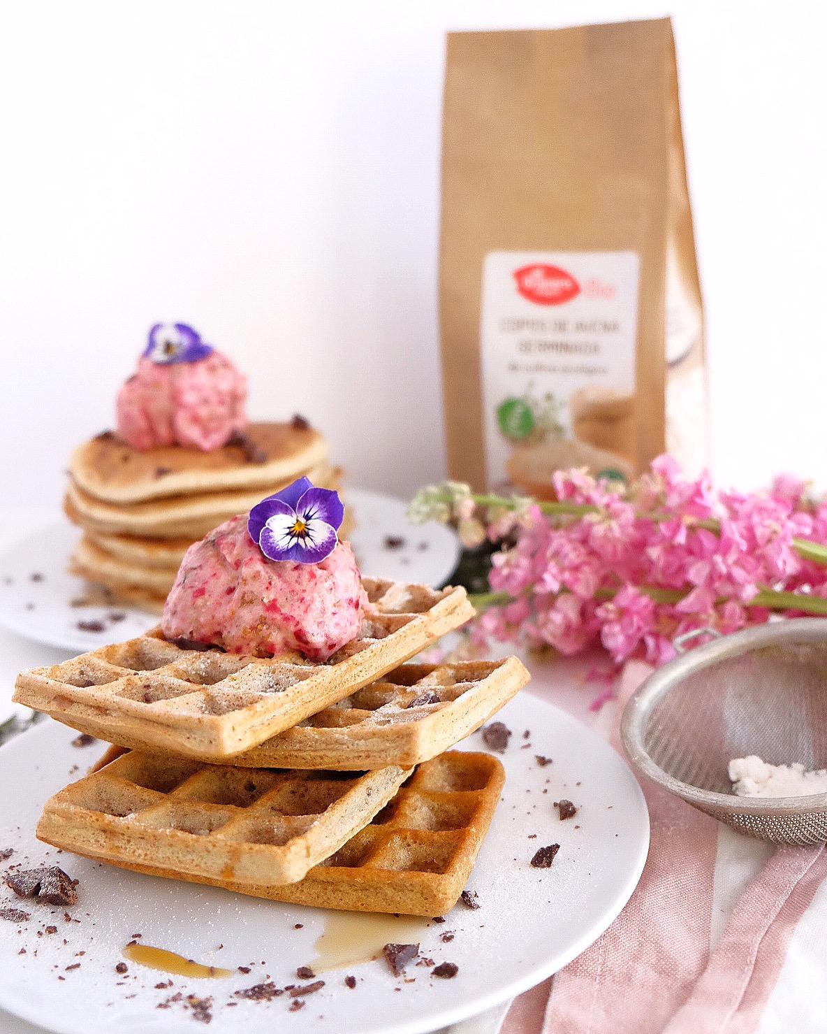 Oats pancake and waffles