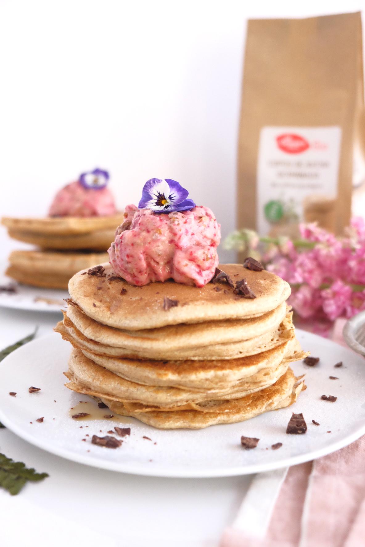 Pancakes y gofres de avena