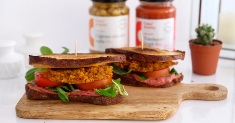 Veggie burgers with curry and sweet pepper