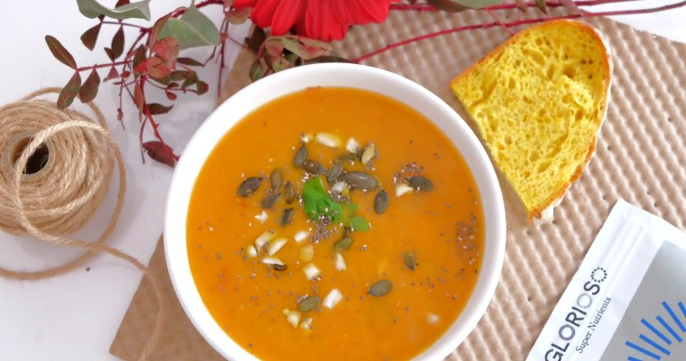 Sweet potato soup with chia seeds