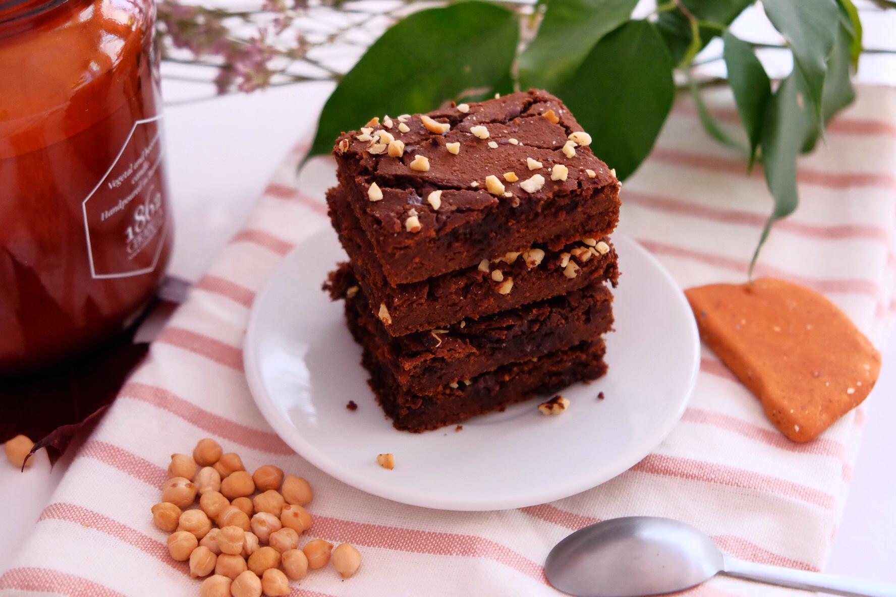 Le brownie au chocolat et aux pois chiches