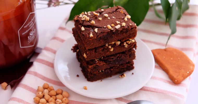 Peanut butter chickpeas brownie
