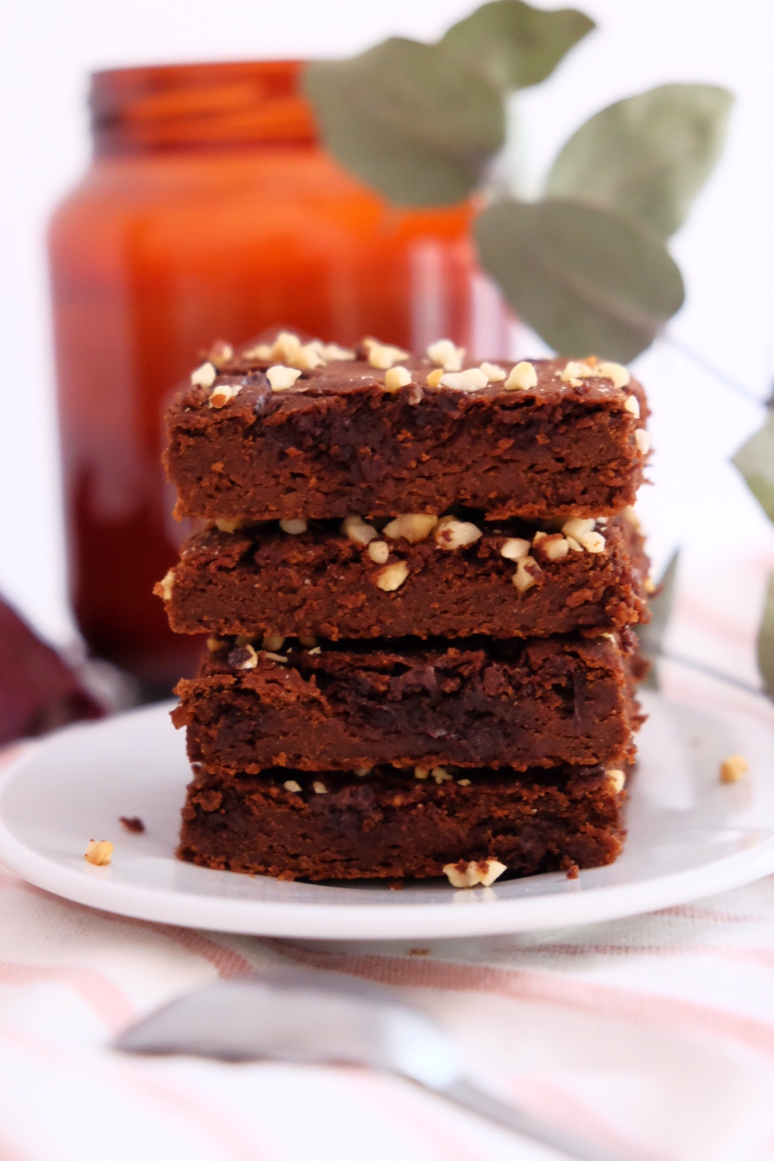El brownie de chocolate y garbanzos
