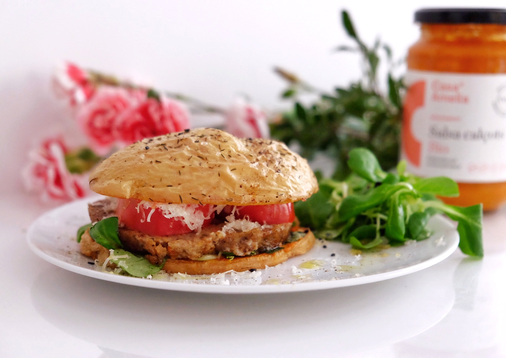 Burger vegetariana sin pan