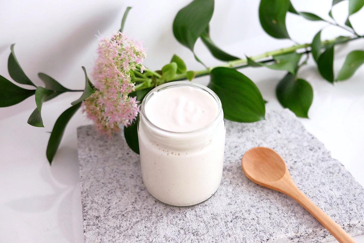 Délicieux yaourt aux amandes