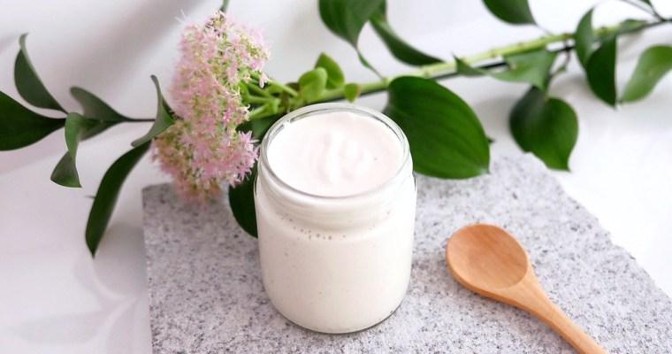 Delicious homemade almond yogurt