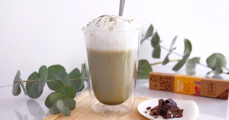 Creamy matcha and coconut milk