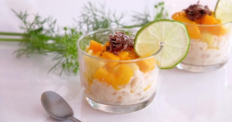 Tapioca pudding with coconut milk