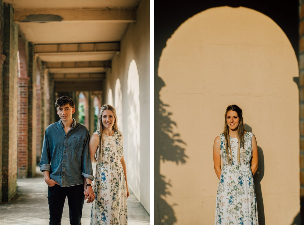 Hampstead pergola and hill engagement session