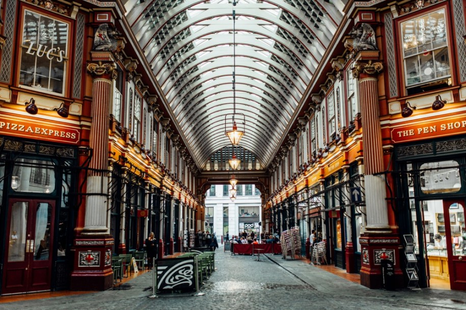 London's hidden gems and photo shoot location Leadenhall Market