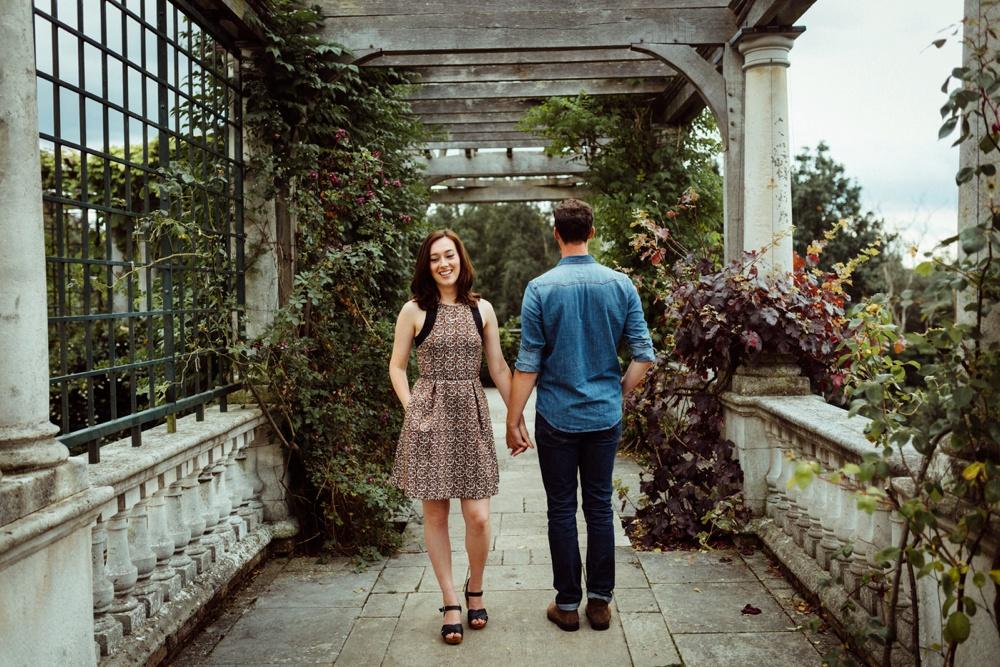 engagement shoot in Hampstead heath London