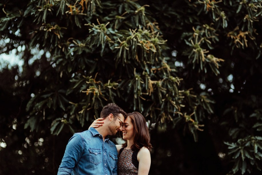 Engagement shoot at Hampstead Park, London