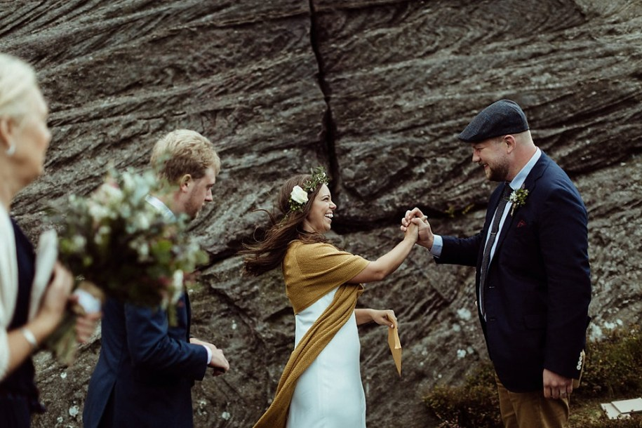 northumberland elopement outdoor ceremony