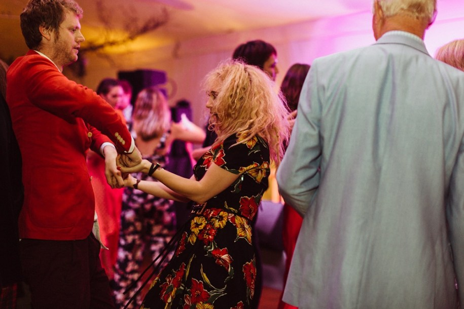 Juno Temple dancing at New Forest Wedding