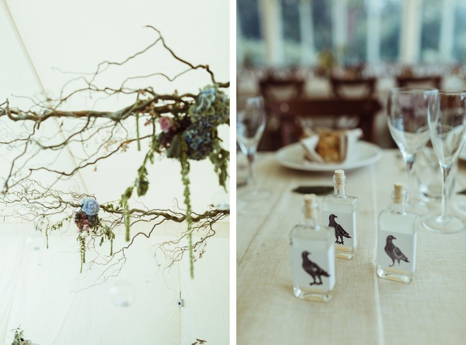wedding reception details at New Forest Wedding