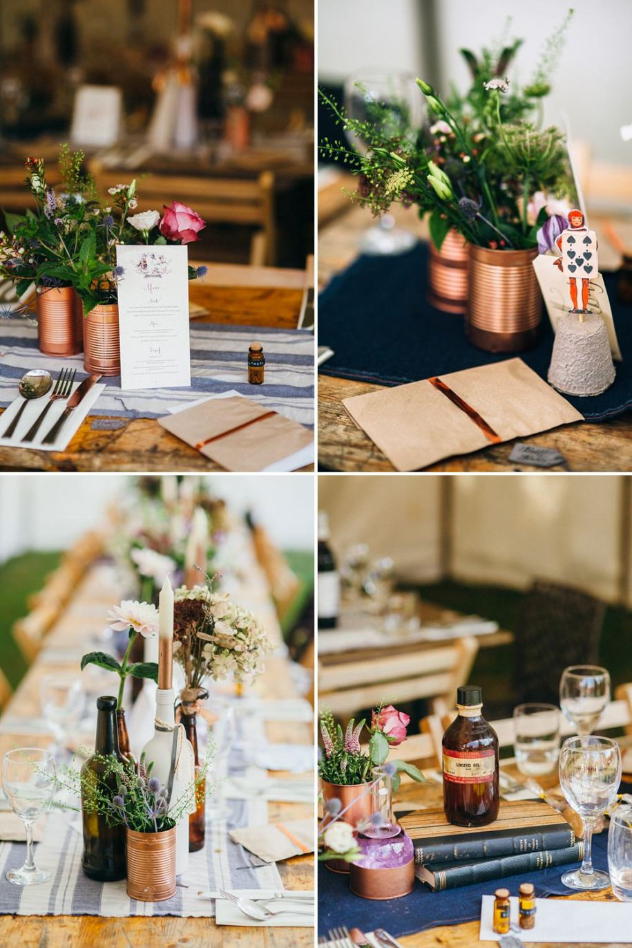 wedding reception ideas for table decorations