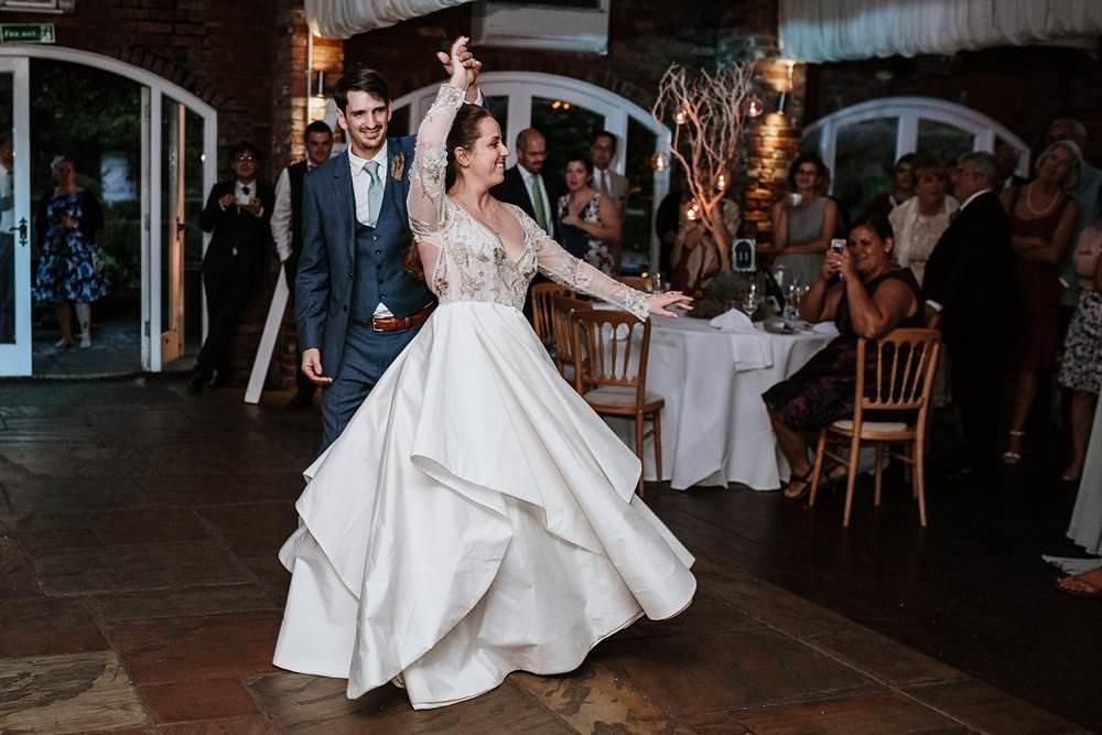 fist dance at northbrook park wedding