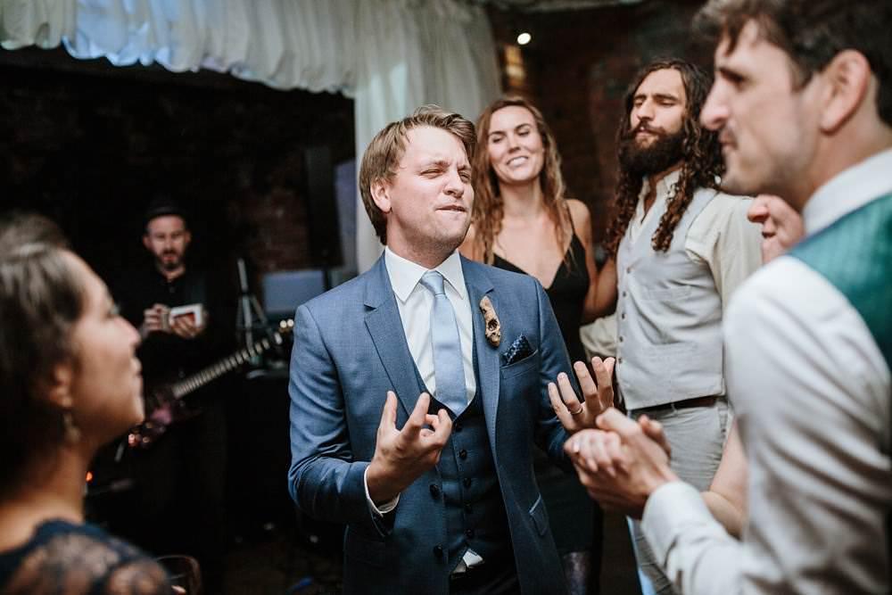 guests dance at northbrook park wedding reception