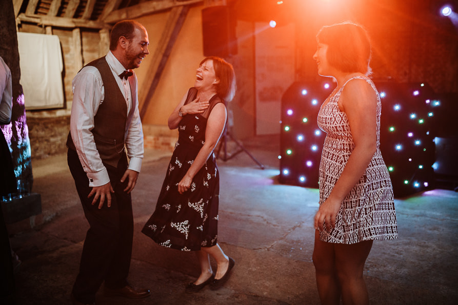 Wanborough Great Barn wedding reception
