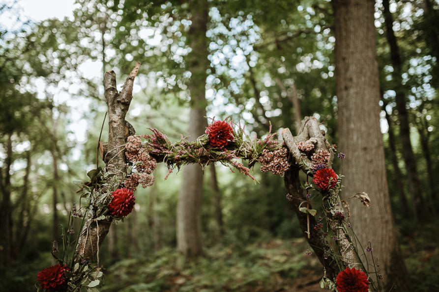 forests wedding ceremony details