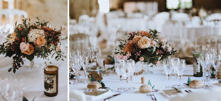 wedding flowers diy at wedding reception