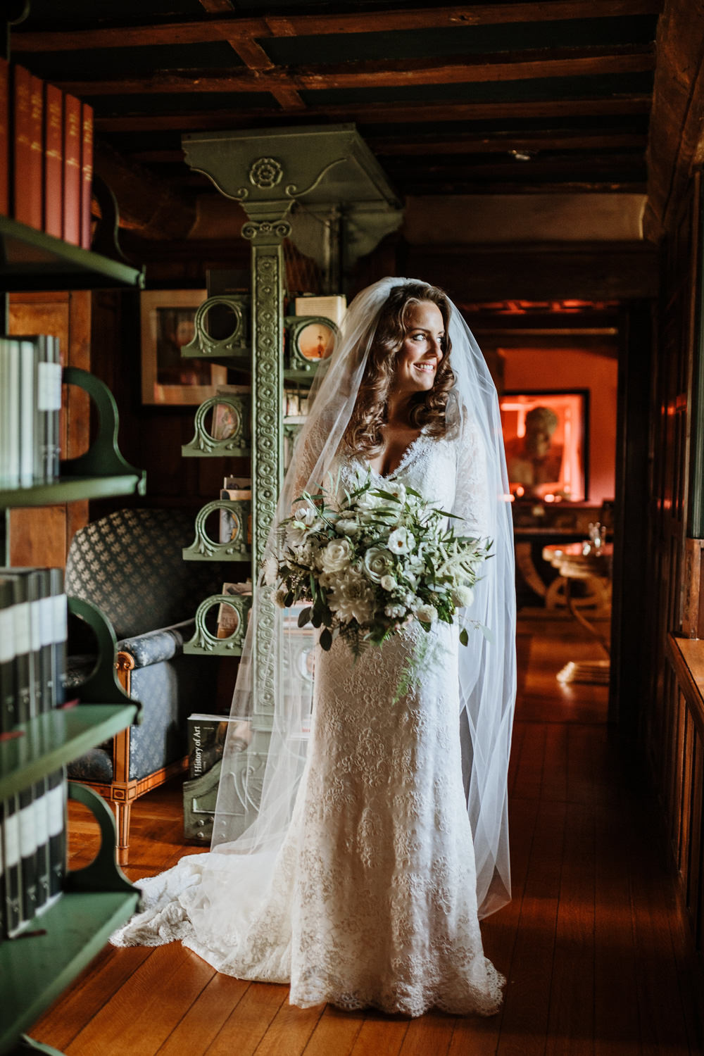 bride in the morning before dorset wedding