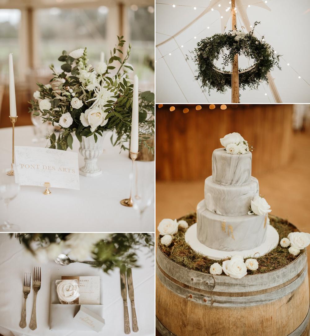 marquee wedding reception details
