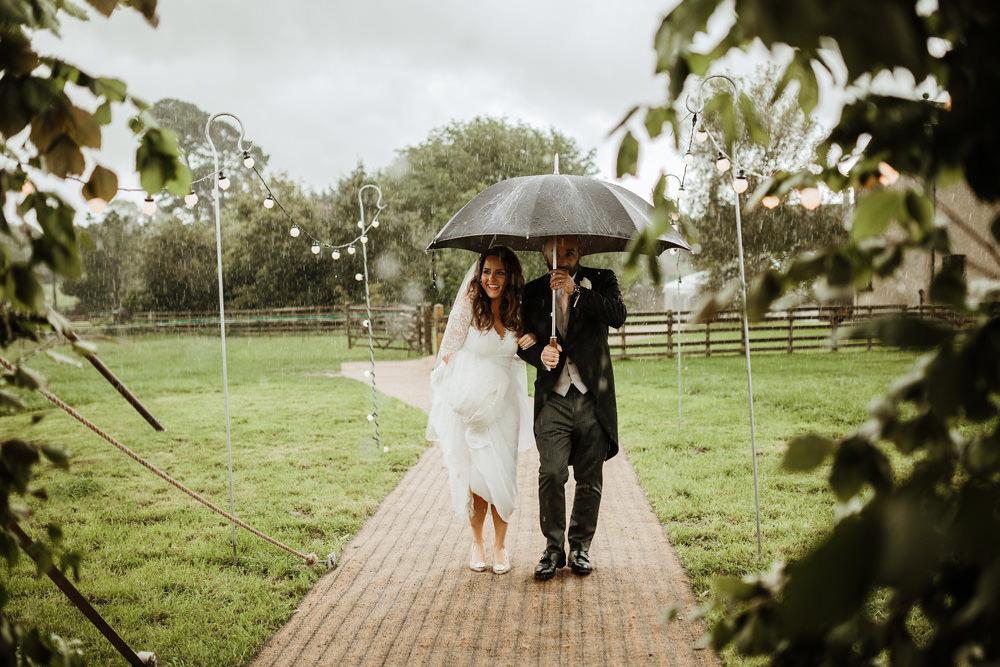 rainy day wedding in dorset