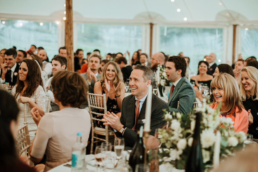 speeches during marquee wedding dorset