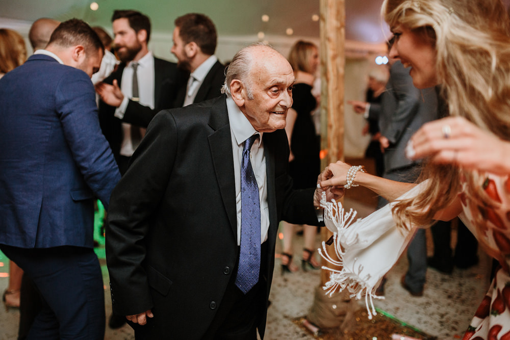 grandad dancing during private property marquee wedding