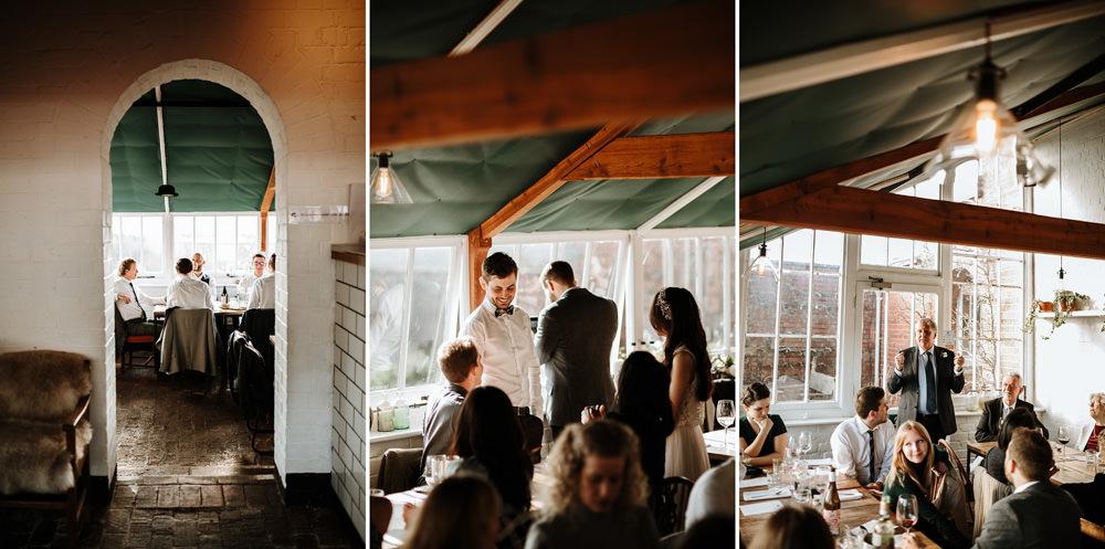 speeches during the ethicurean wedding reception