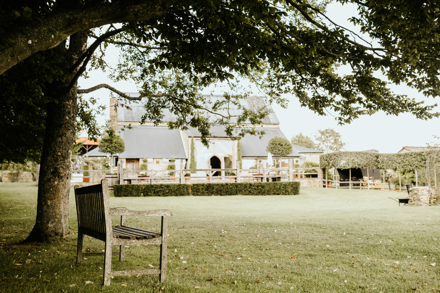 gardens of the Cripps Barn wedding venue Cotswolds