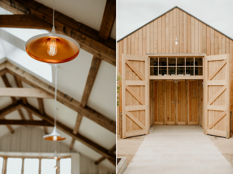 details Cotswolds wedding barn