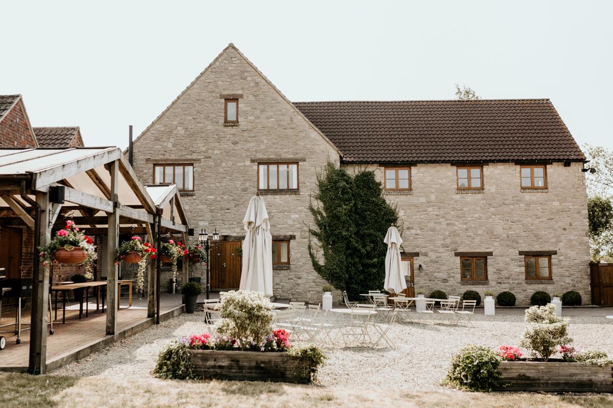 outdoors garden cotswolds wedding venue the barn at berkeley