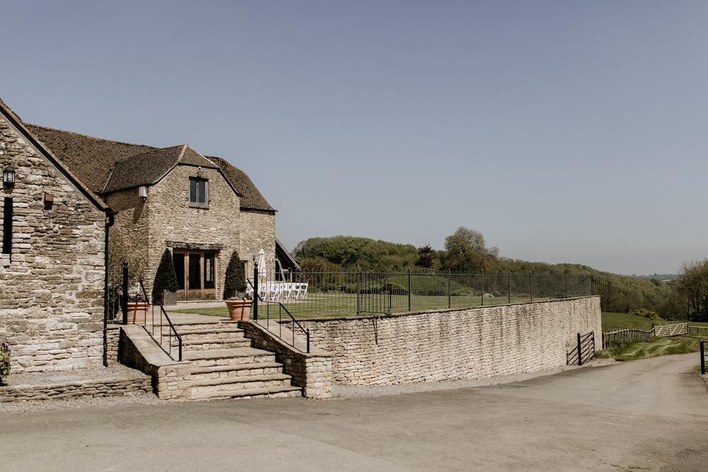 The Kingscote Barn Wedding venue by wedding photographer Cotswolds