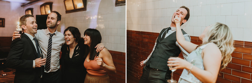 funny guests during plas dinam country house wedding reception dance