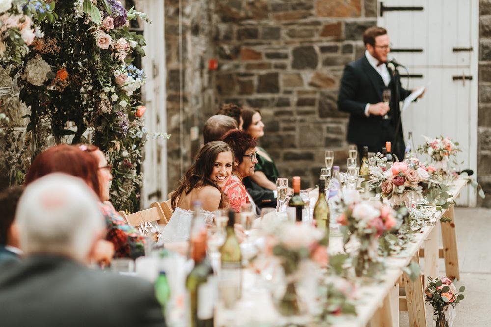 grooms speech at plas dinam country house wedding reception