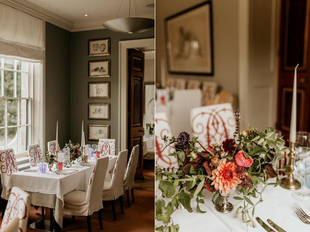 The Kennels Goodwood wedding reception decor