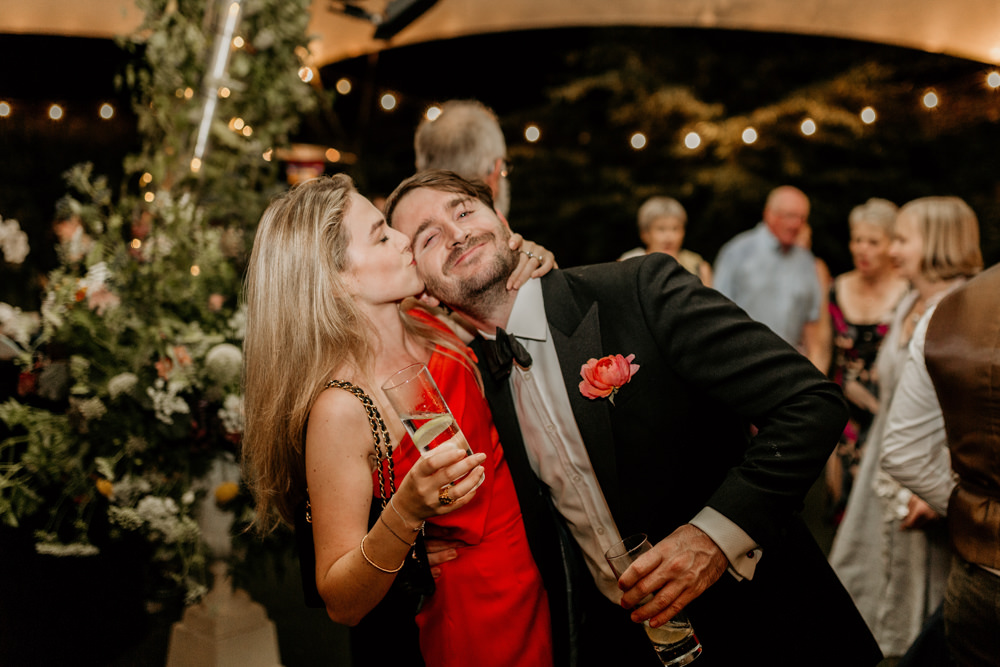 wedding reception at The Kennels Goodwood wedding venue by Green Antlers Photography