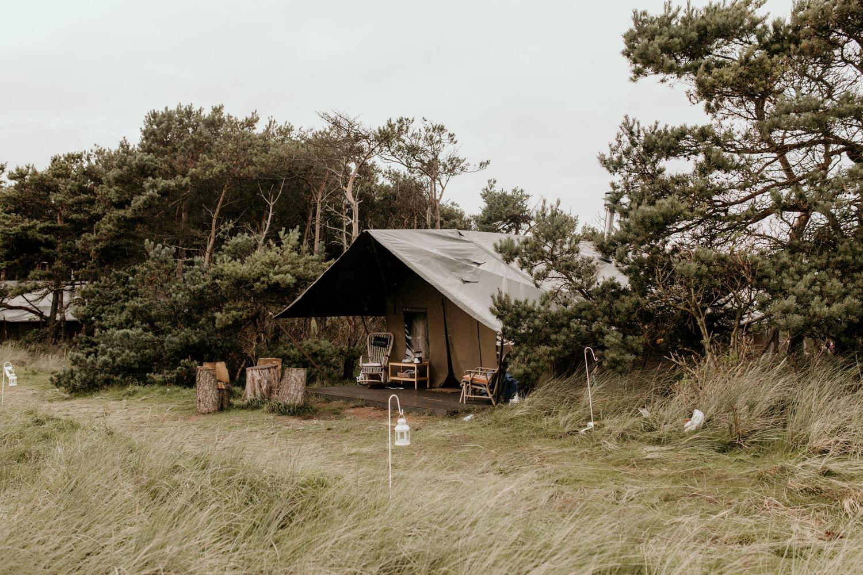 glamping tent at Harvest Moon Holidays Scotland