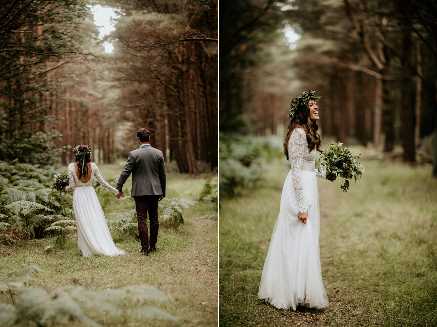 Wear your love wedding dress for an ethical bride during their forest wedding in Scotland
