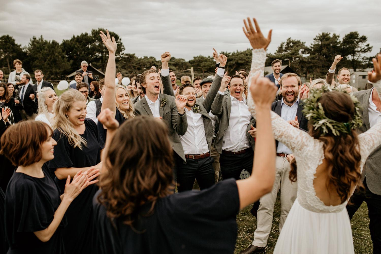 flash mob wedding surprise at Harvest Moon Holidays Scotland